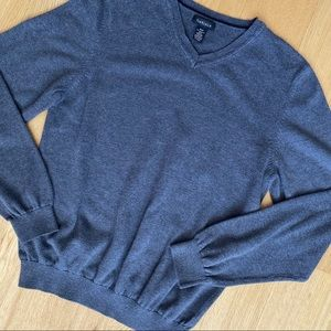 Van Heusen V-Neck Cotton Sweater Grey Size S